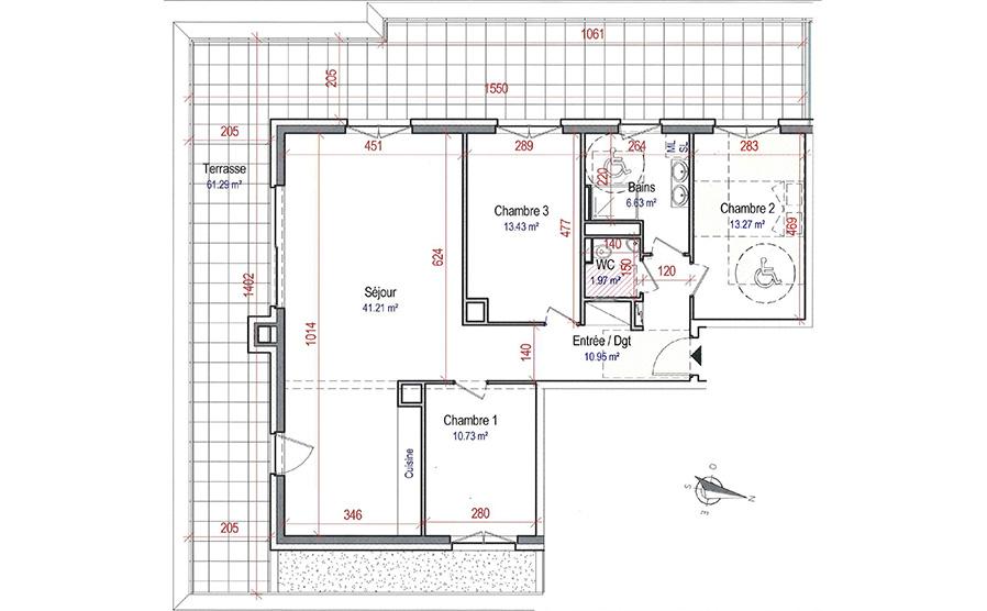 4 pièces Villa Emeraude 2EM